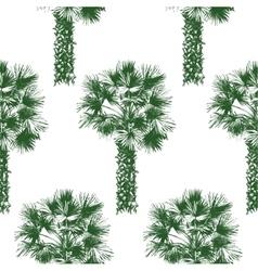 hand drawn palm tree seamless vector image