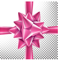 realistic bow decoration for birthday gift vector image vector image