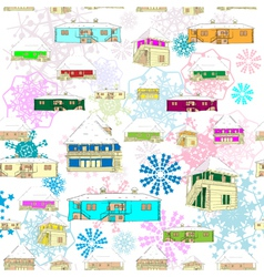 winter colored pattern vector image