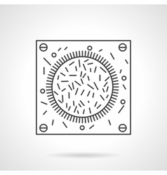 Bacteria icon flat line design icon vector image