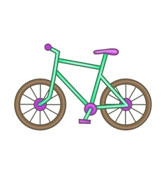 Bicycle icon cartoon style vector image vector image