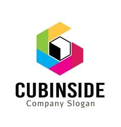 Cubinside design vector