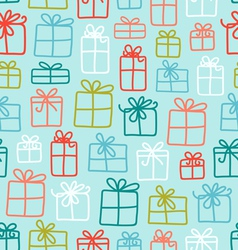 Gift boxes pattern vector image vector image