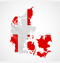 hanging denmark flag in form of map kingdom of vector image vector image