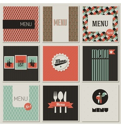 Menu label on a seamless background vector image