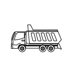 Trash truck icon vector