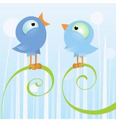 two loving birds vector image