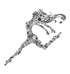 woman in jump vector image