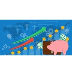 Business background financial money growth vector