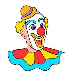 face clown icon cartoon vector image