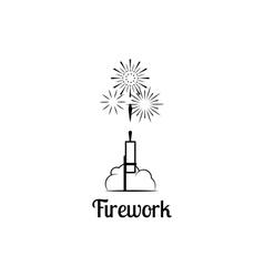 Firework company logo vector image vector image
