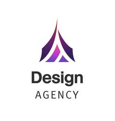 letter a company logo design template triangle vector image