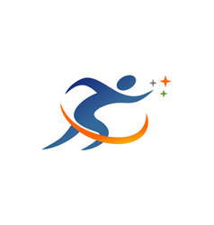 run people logo vector image