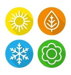 Set of icons seasons vector image