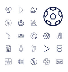 22 record icons vector