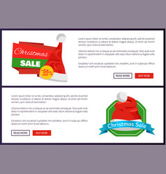 55 off sign and santa claus hat on discount labels vector