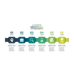 abstract ribbon timeline infographics template vector image