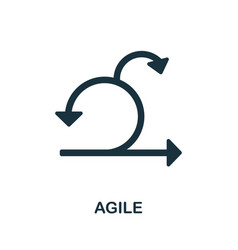 Agile icon simple element from business vector