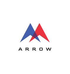 Arrow logo design vector