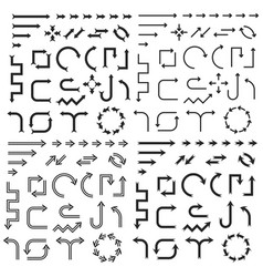 Arrows large collection of black icons vector
