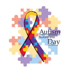 Autism awareness day international organization vector