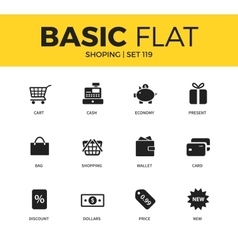 Basic set of Shopping icons vector image