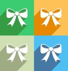 Bow icon Menu icon vector image