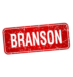 Branson red stamp isolated on white background vector
