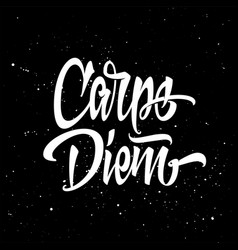 Carpe diem for a t-shirt black and white vector