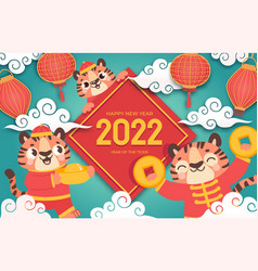 chinese new year 2022 winter holiday banner vector image