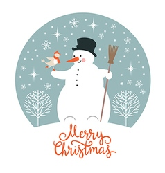 Christmas New Years card vector image