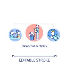 Client confidentiality concept icon vector