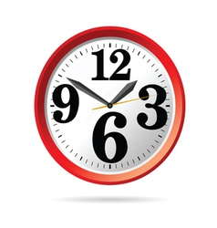 clock in red part two vector image
