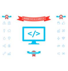 coding symbol icon vector image