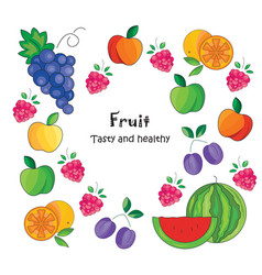 color fruit icon on a white vector image