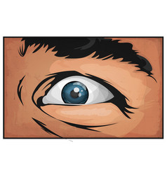 comic books man eyes scared vector image