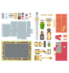 construction elements - set of modern vector image