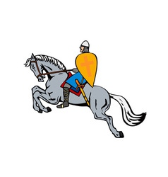 Crusader on Horse vector