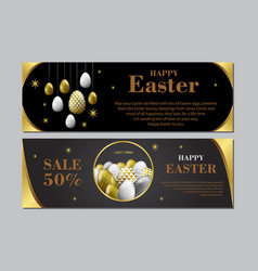 easter holiday design abstract glitter eggs with vector image