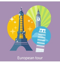 European Traveling Tour vector image