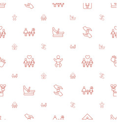 Family icons pattern seamless white background vector
