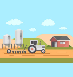 farm landscape vector image