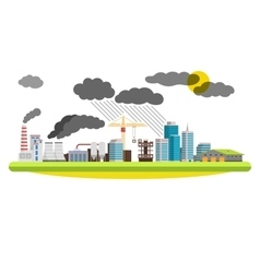 Flat city and industrial landscape Environmental vector image