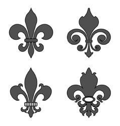 Fleur de lis heraldic flower symbol vector