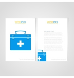 Flyer template back and front design Medical Icons vector image