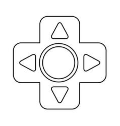 Gamepad cross isolated vector