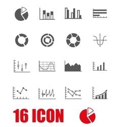 grey diagrams icon set vector image