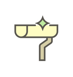 Gutter cleaning icon vector