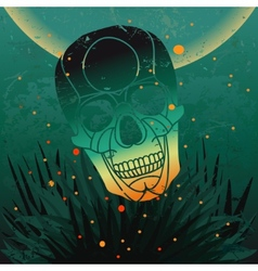 Halloween skull background vector