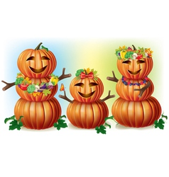 Happy Pumpkin Family vector